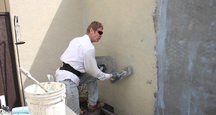 Coat Painted Wall New Stucco Complete