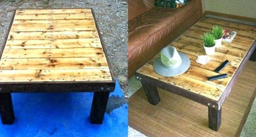 Coffee Table Make Coffeee Out Wood Crateshow Pallets