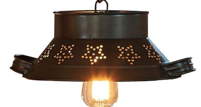 Colander Pendant Light Primci Country Home Decor
