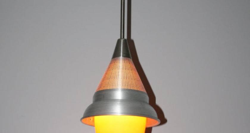 Colander Pendant Light Vintage Seed Strainer