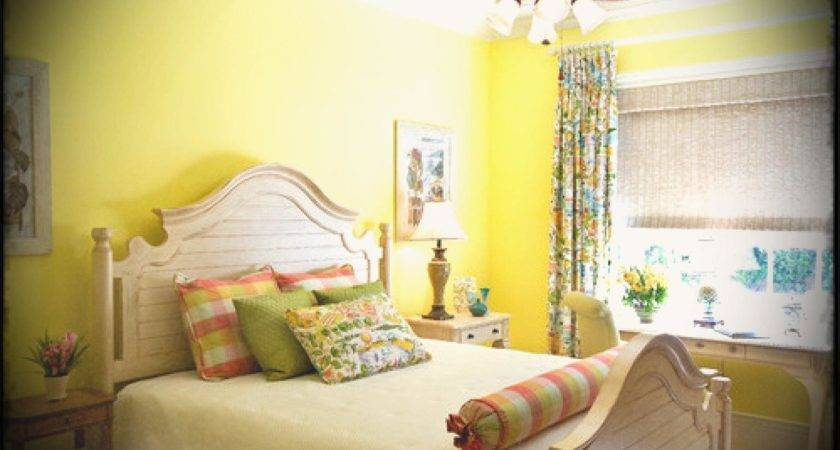 Colorful Home Decor Ideas Bedroom Yellow Wall