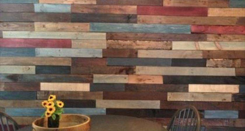 Colorful Pallet Wall Decoration Ideas Pallets Designs