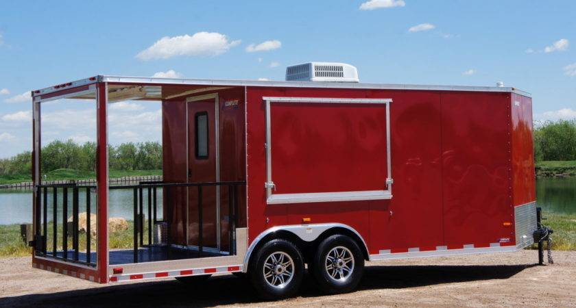 Complete Trailers Llcbbq Smoker Trailer Porch