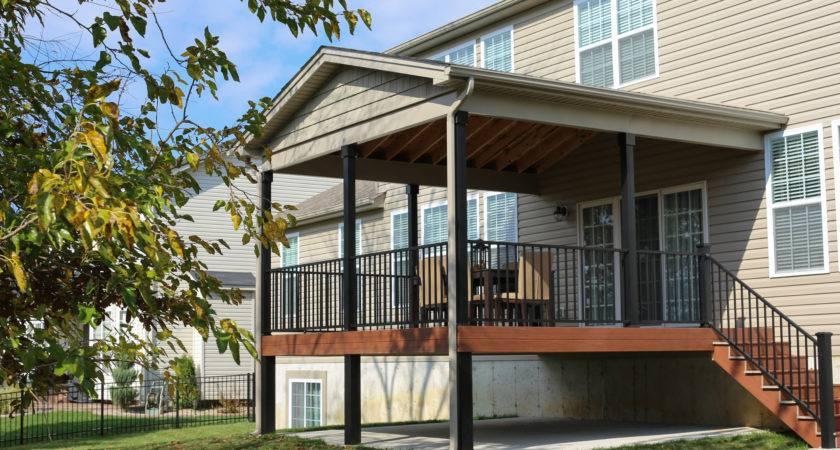 Composite Deck Custom Roof Tri County Fence