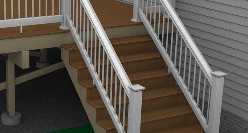 Composite Deck Stairs Build