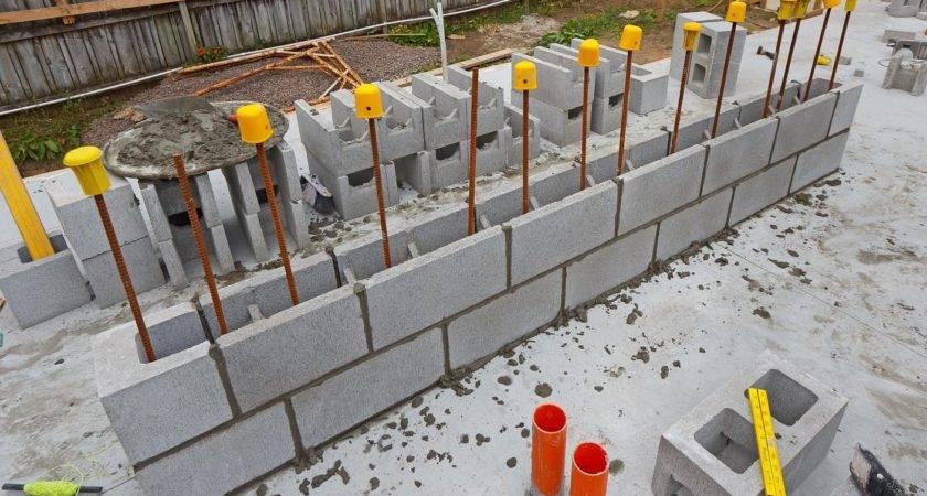 Concrete Block Wall Construction Pixshark