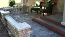 Concrete Front Porch Makeover Baluster Floor Designs