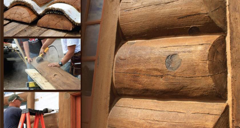 Concrete Log Siding Options Golden Eagle Timber