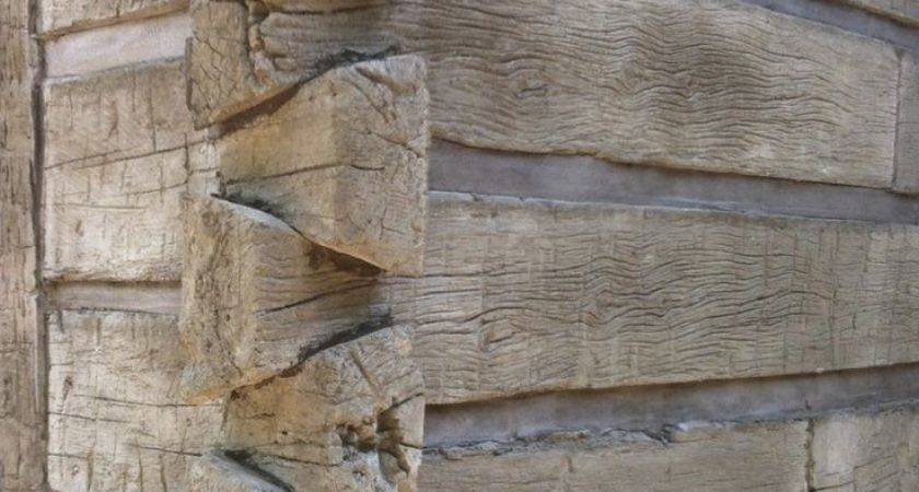 Concrete Siding Looks Like Hand Hewn Logs Home