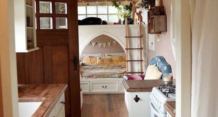 Converts School Bus Into Beautiful Cottage