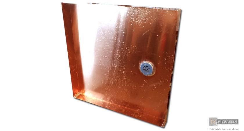 Copper Pans Shower Custom Fabricated Riverside