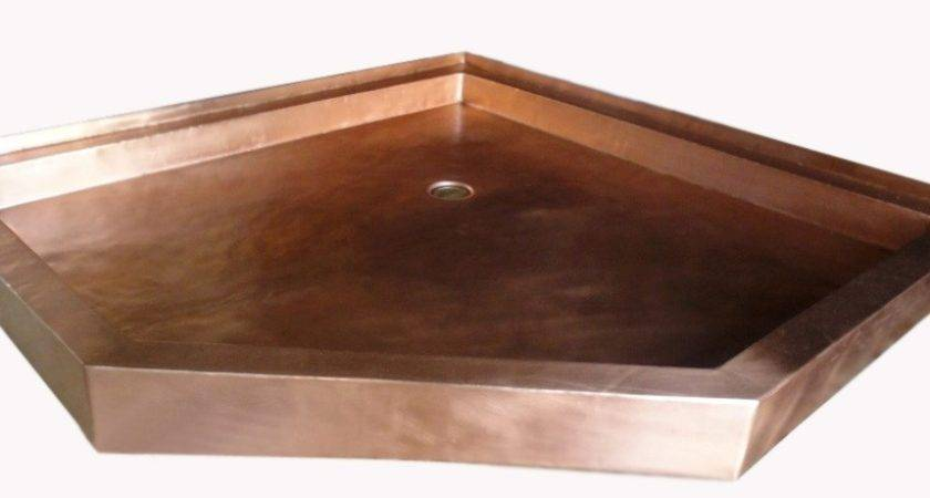 Copper Shower Pan Neo Angle Gorgeous Patinas