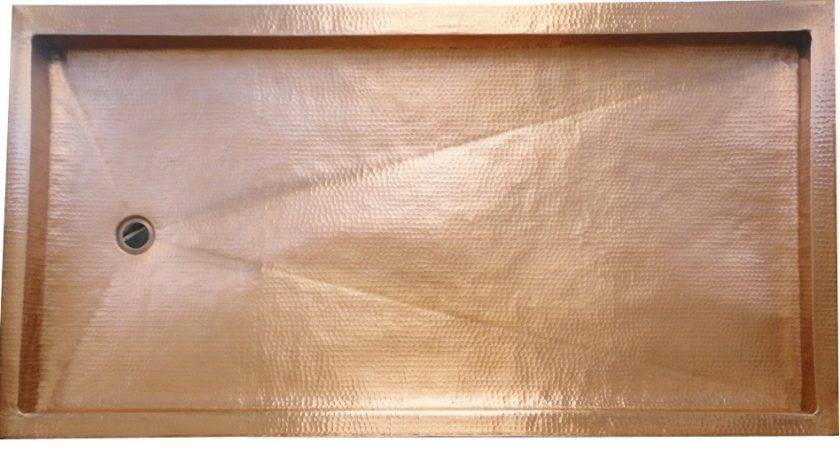 Copper Shower Pan Rectangle Gorgeous Patinas