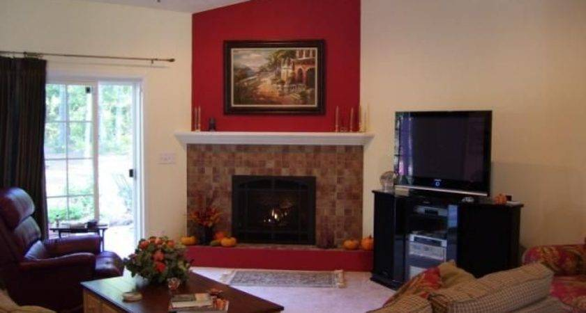 Corner Fireplace Furniture Arrangement Home Decor Ideas