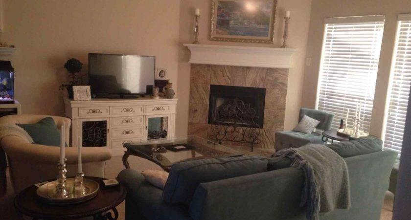 Corner Fireplace Living Room Arrangement