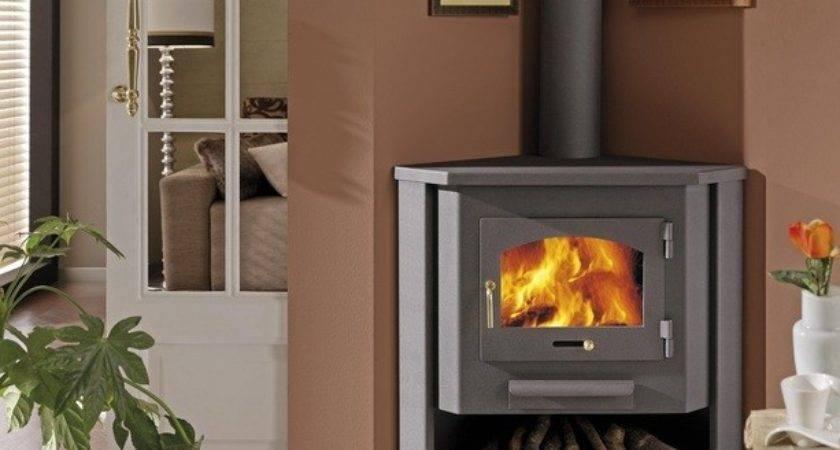 Corner Wood Burning Stove Functional Interior