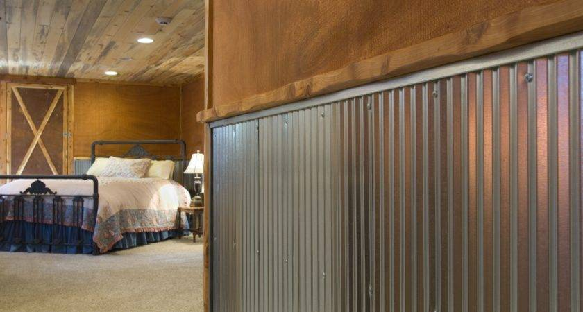 Corrugated Metal Interior Walls Wainscot