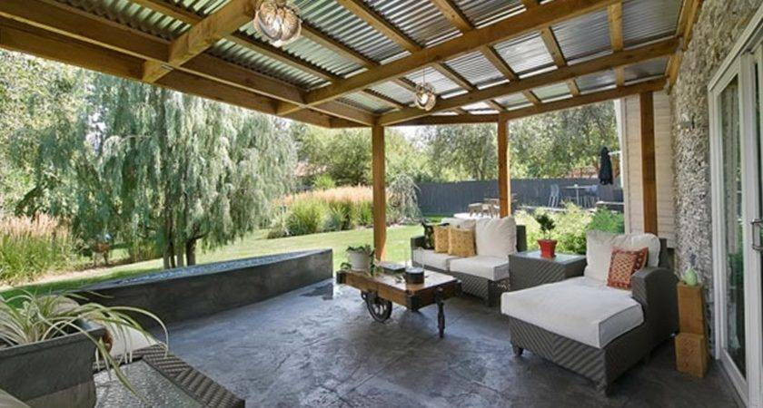 Corrugated Metal Patio Roof Designs