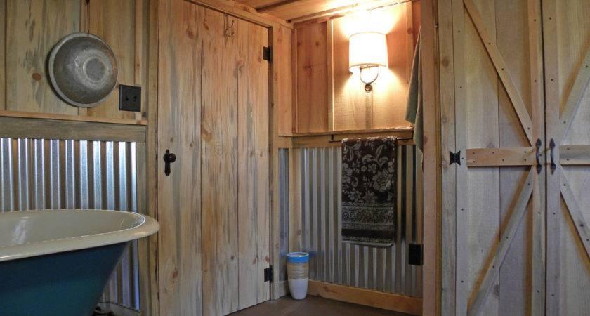 Corrugated Metal Wainscoting Bathroom Craftsman Barn