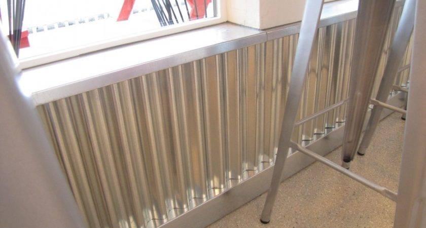 Corrugated Metal Wainscoting Pin Pinterest