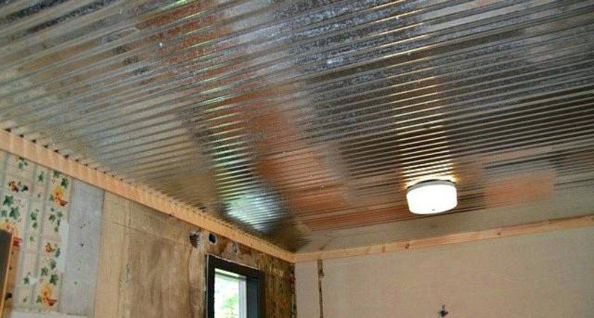 Corrugated Tin Ceiling Moutard