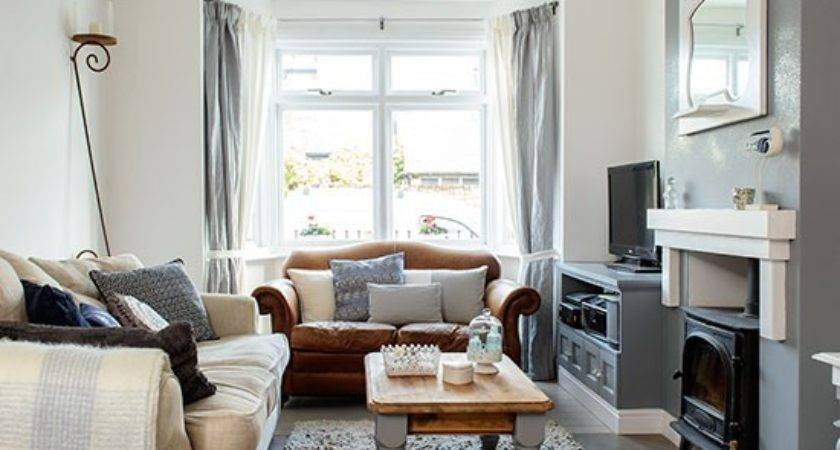 Cosy Grey White Living Room Decorating Housetohome