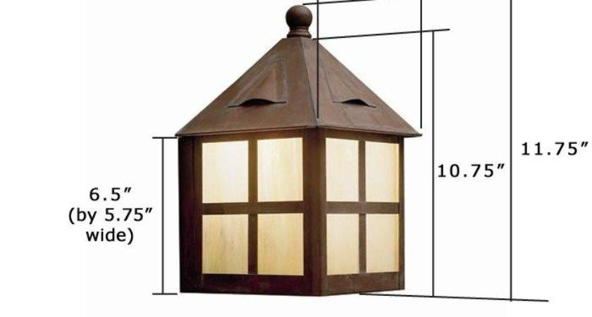 Cottage Lantern Wide Flush Exterior Wall Light Brass