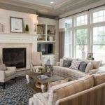 Country Chic Living Room Design Beautiful Fireplaces