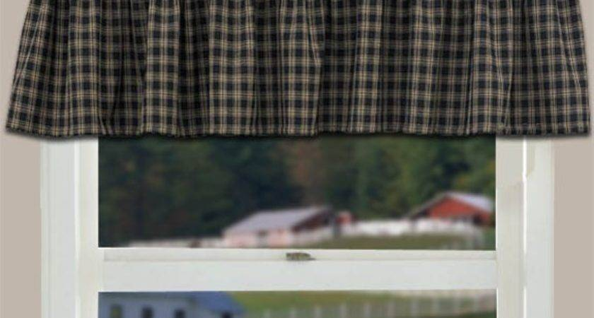Country Curtain Valance Sturbridge Black Primitive