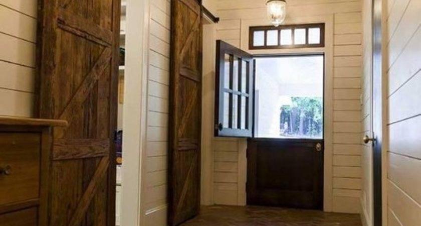Country Entryway Brick Floors Saloon Door Barn