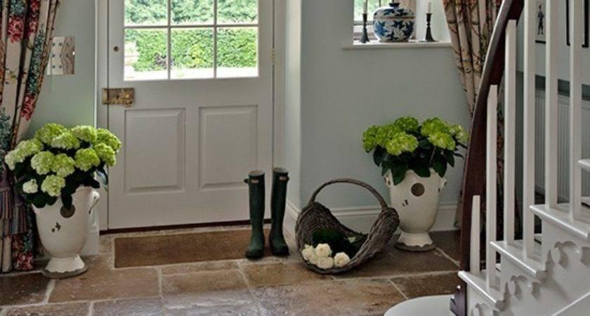 Country Hallway Flagstone Floor Flooring