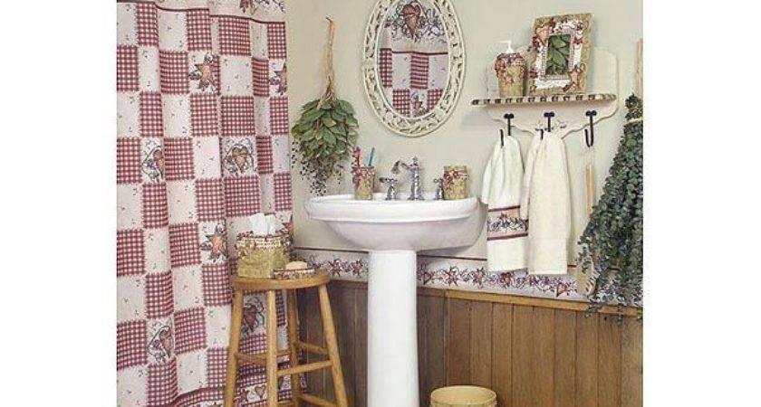 Country Hearts Stars Bathroom Decor