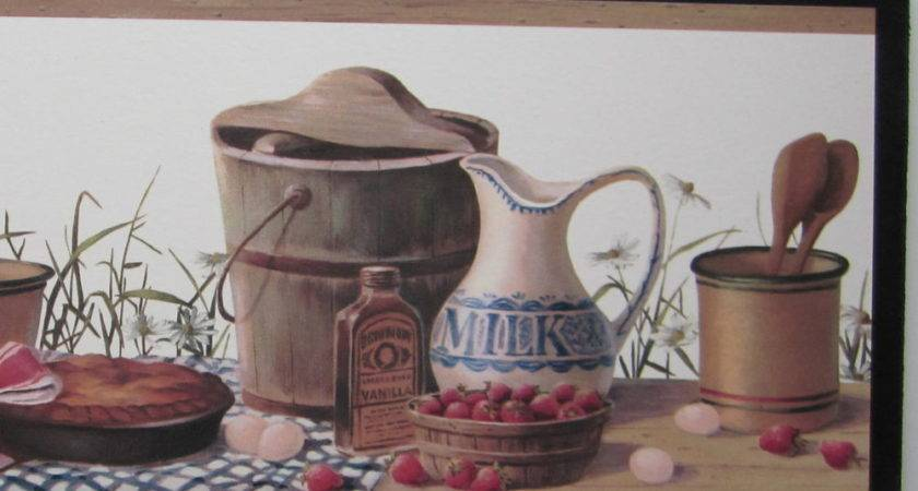 Country Kitchen Canisters Sign Wall Decor Plaque Vintage