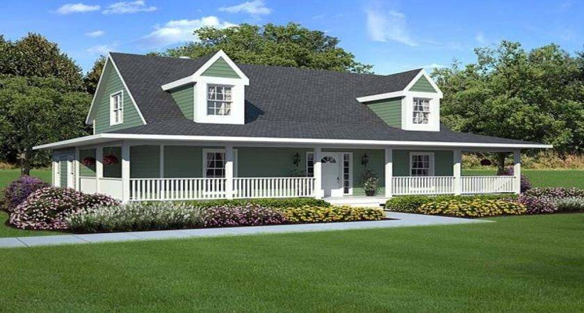 Country Ranch House Plans Wrap Around Porch Home