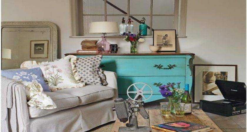 Country Vintage Style Living Room Ideas