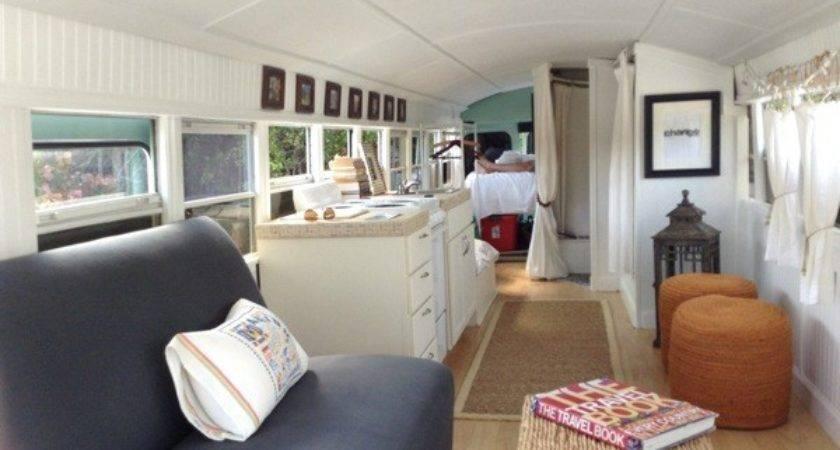 Couple Convert School Bus Into Tiny Home