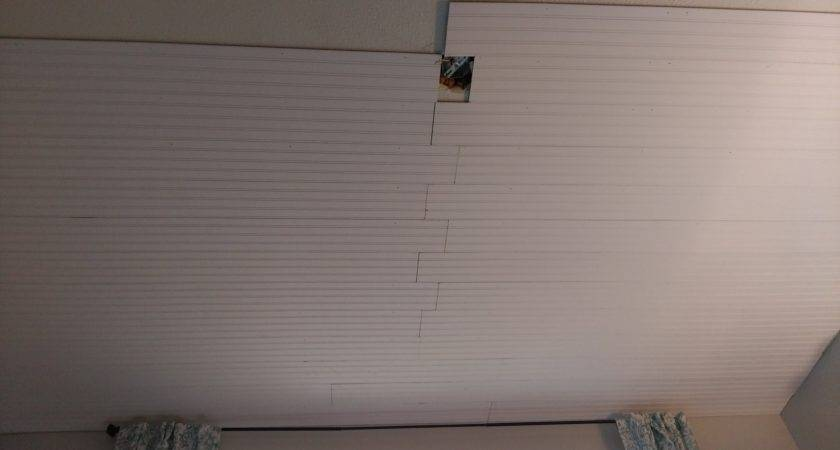 Cover Popcorn Ceiling Beadboard Planks Diy
