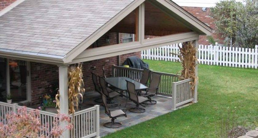 Covered Deck Addition Design Roof Gable Finished