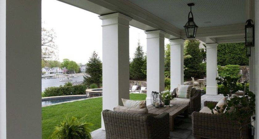 Covered Deck Transitional Patio Owen Group
