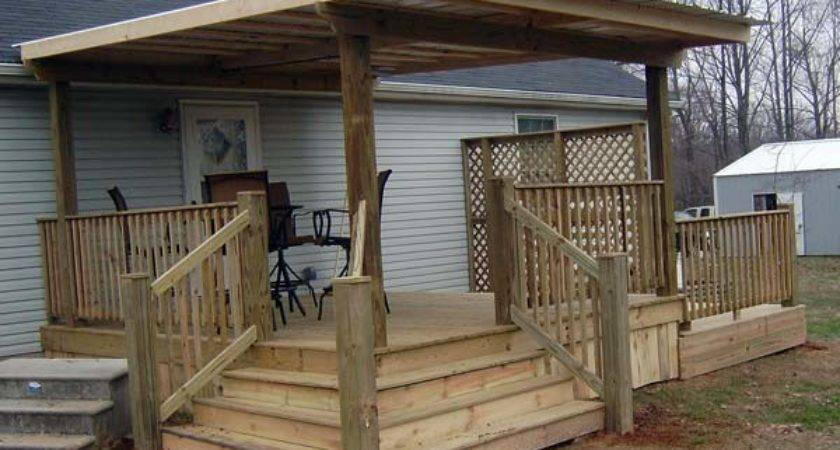 Covered Decks Back Yard Deck Building