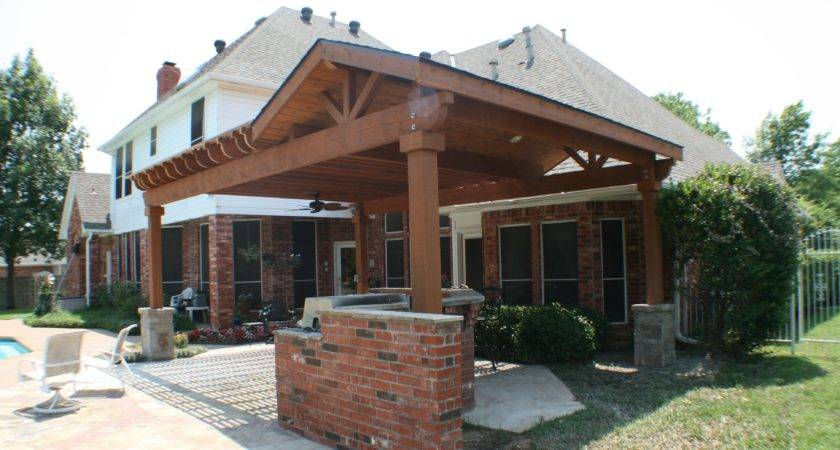 Covered Patios Attached House Elegant Build
