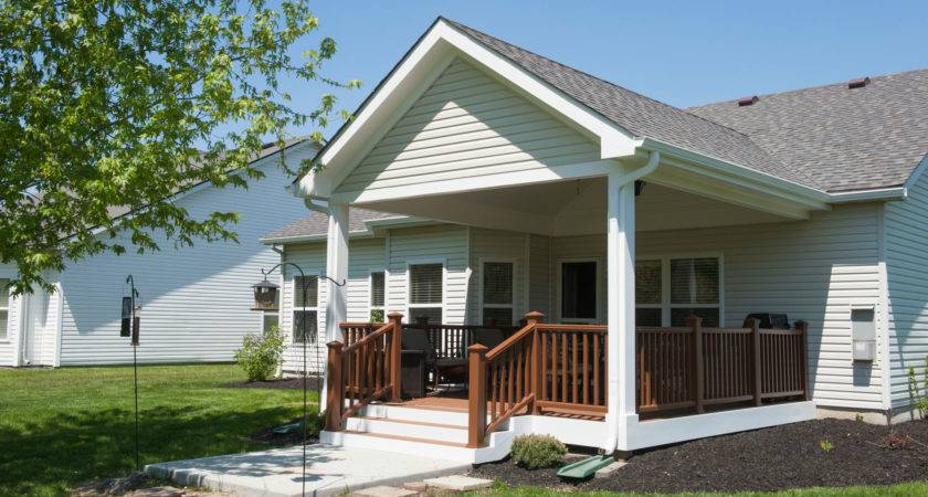 Covered Porch Addition Extends Indoors Outdoors