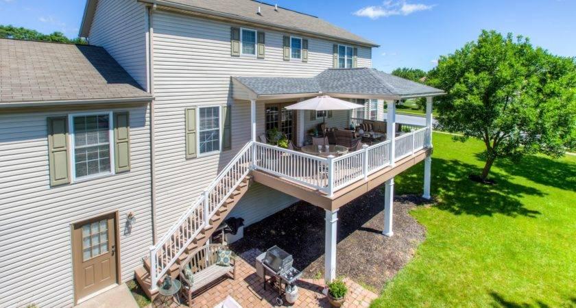 Covered Porch Hip Roof Harrisburg Stump Decks
