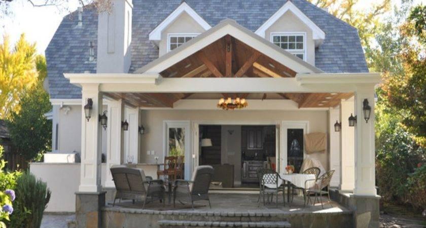 Covered Veranda Design Back Porch Patio