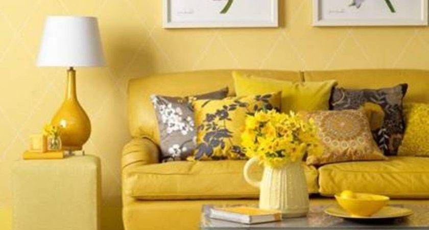 Cozy Living Room Interior Design Ideas Yellow Sofa