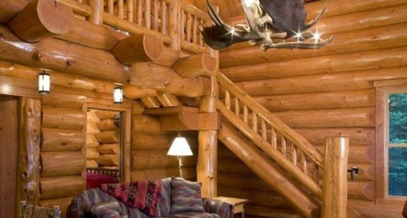 Cozy Rustic Cabin Living Room Design Ideas Style
