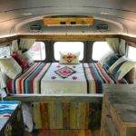 Cozy Short School Bus Conversion Design Vanchitecture
