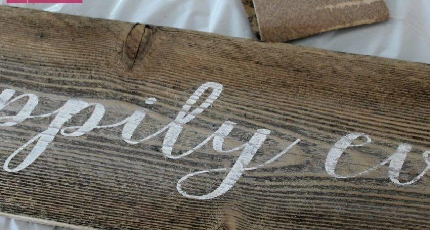 Craftaholics Anonymous Diy Rustic Wood Sign Tutorial