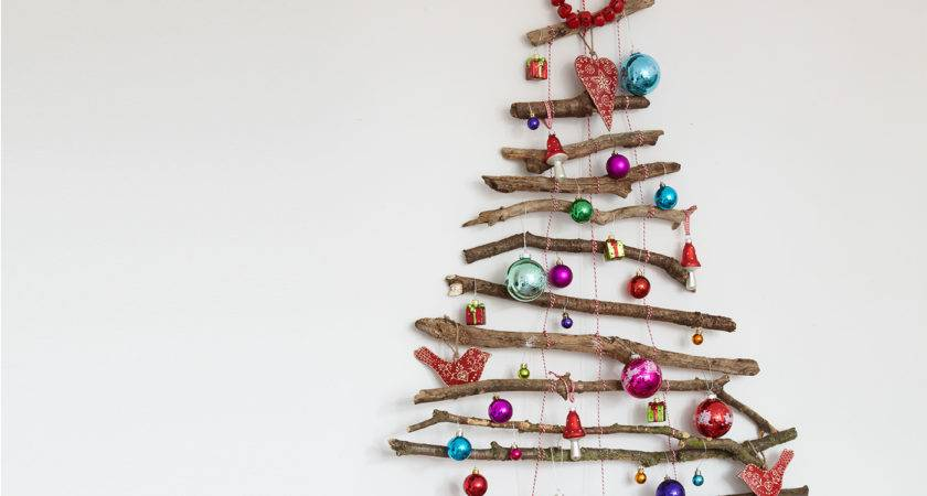 Create Festive Feature Wall Twig Christmas Tree