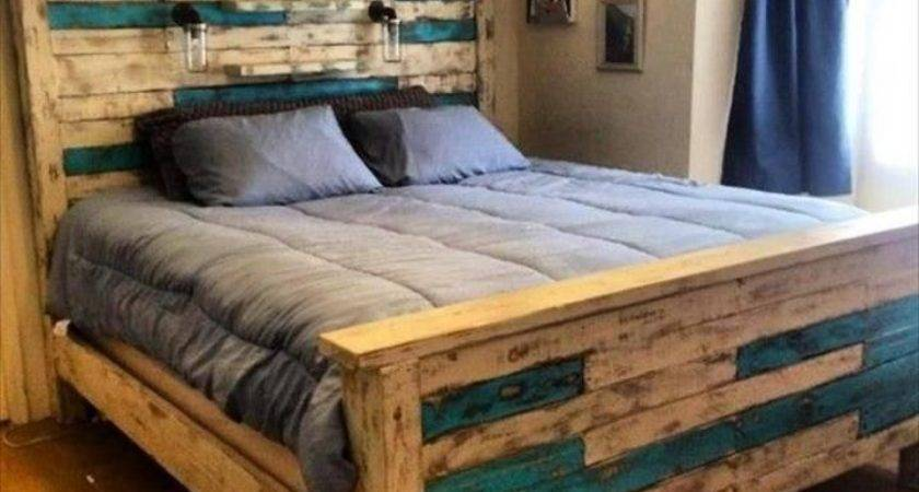 Create Wooden Pallet Bed Idea